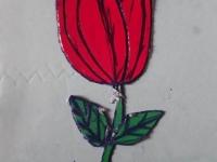 Троянда з картону