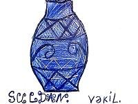 Букет у синій вазі