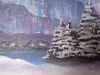Зима. Північне сяйво