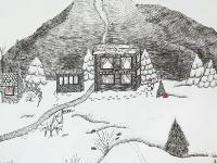 З Різдвом! Святковий краєвид