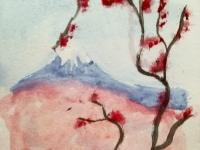 Етюд з горою Фудзі