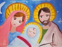 Марія і Йосип з маленьким Ісусом