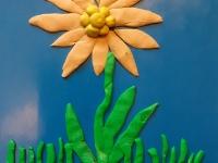 Моя квітка, яку зліпив із пластиліну