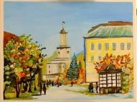 Ратуша мальовничого міста Івано-Франквіська