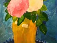 Натюрморт. Квіти у жовтій вазі