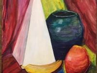 Натюрморт. Яблуко і банан