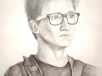 Портрет юнака в окулярах