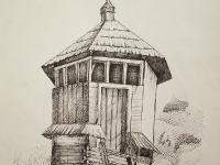 Елемент архітектури в старому селі №1