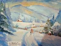 Зимовий пейзаж. Колядники