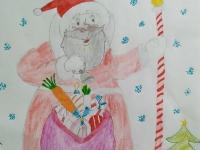 Санта із подарунками
