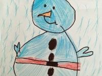 Сніговик із гудзиками
