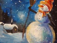 Святковий вечір. Сніговик
