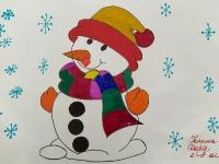 Сніговичок в шапці