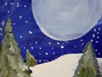 Пейзаж із повним місяцем